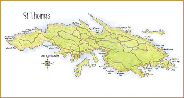 St Thomas Oceanfront Condos – St Thomas Tourist Map