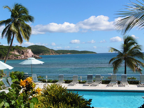 Our tranquil oceanfront pool